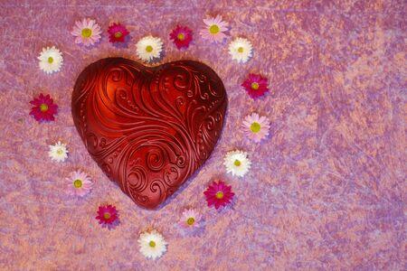 Heart with flowers Standard-Bild