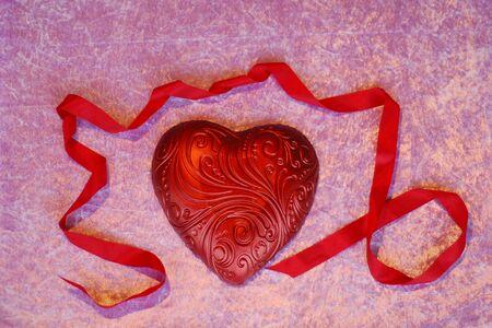 Heart with ribbon Standard-Bild
