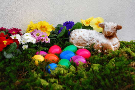 colorful eggs as Easter