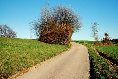 Street in Jettenbach Standard-Bild