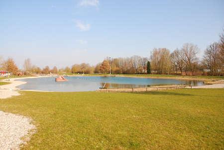 Recreation area in Ampfing Standard-Bild