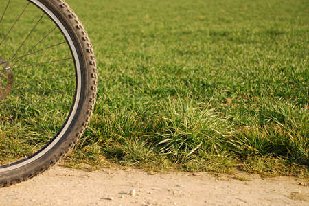 Mountain bike tire with meadow