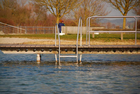Jetty into the water