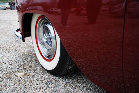 alt: Whitewall tires Cadillac