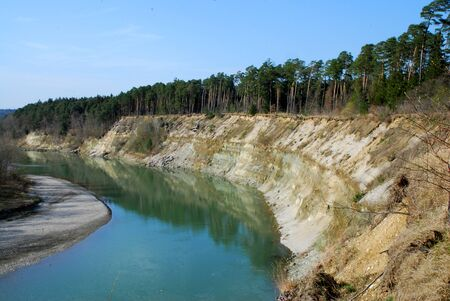 sandbank: River with steep slope in curve