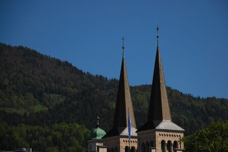 Church with mountain in Berchtesgaden