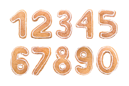 New Years set of numbers from ginger biscuits 2018