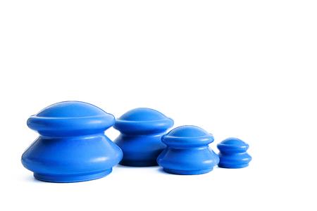 Medizinisches Set von Vakuumdosen (Gläser, Bänke) für Gesicht und Körper. Anti-Cellulite-Gummiblasenmassage. Manuelle Lymphdrainage. Chinesische Schröpfmassage gegen Cellulite. Schlankheitsmassage, Körperformung.