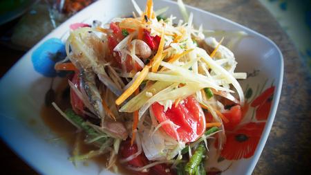 Somtum,papaya salad