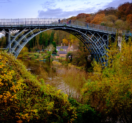 First Iron Bridge - over the gorge in Telford, Shropshire UK