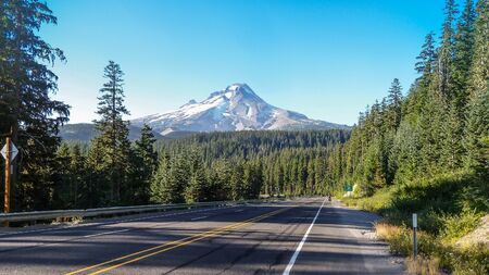 oregon cascades: Mount Hood, Oregon. Stock Photo