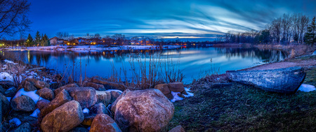 katherine: Lake Katherine at sunset Stock Photo