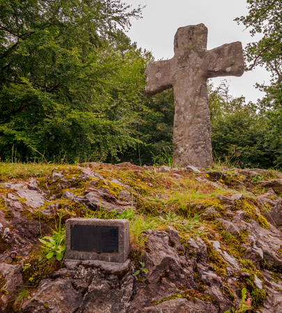 Early medieval stone cross - Norway.