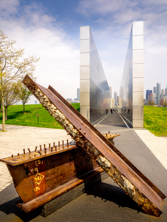 Memorial to the New Jersey residents who lost their lives on 911.