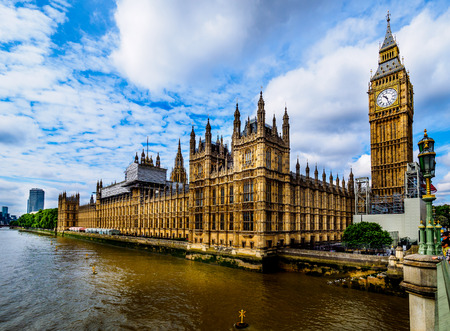 Houses of Parliament - Palace of Westminster, Londen Stockfoto - 87005664