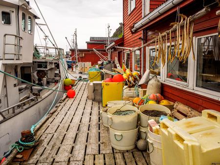 전형적인 노르웨이 어촌 마을 선착장.