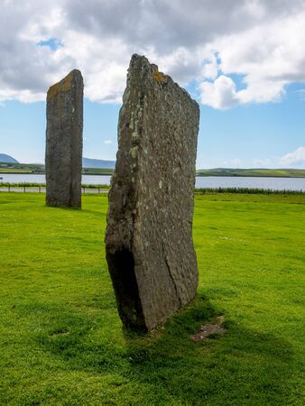 Ancient standing stones on Orkney Islands