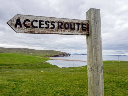 Access route for Public Footpath, Orkney Islands