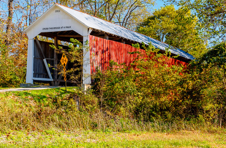 Bowsher Ford Covered Bridge - Indiana, USA