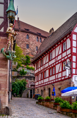レーゲンスブルクの美しく、素晴らしく保存された中世の都市 写真素材