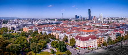 Vienna cityscape - taken from the historic ferris wheel.