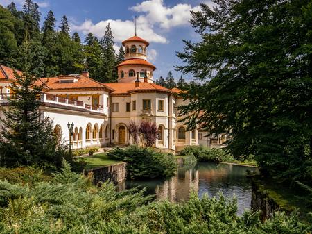 Elegant architecture of Sinaia Romania