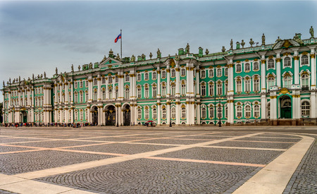 Winter Palace and Hermitage Musuem, St Petersburg Russia Stock Photo - 92222278