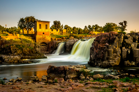The falls that give their name to the city - Sioux Falls, South Dakota.