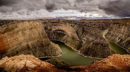 Fantastisch voorbeeld van hoe water een kloof kan uitsnijden over een paar millennia .. Stockfoto