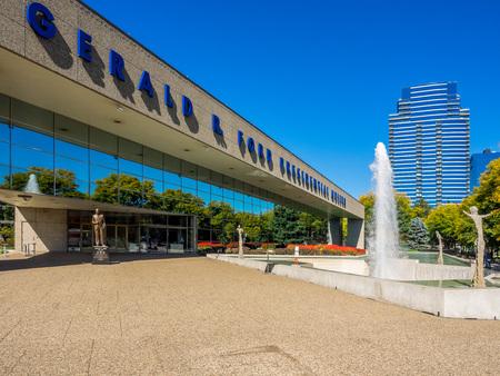 Gerald R Ford Presidential Museum Campus - Grand Rapids, Michigan 版權商用圖片 - 92185735