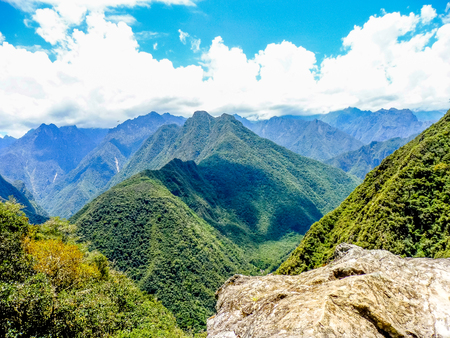 The walk through the mountains to Machu Picchu