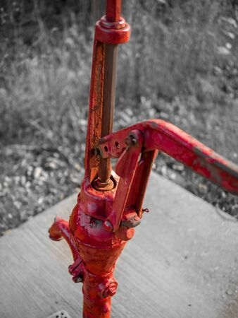 An old hand-drawn water pump along the Hickory Creek cycleway.