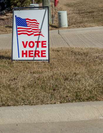 Sign showing where to vote