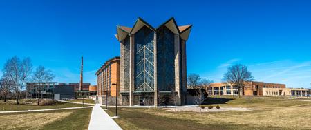 The modern campus of Valparaiso University, Indiana. Stock Photo