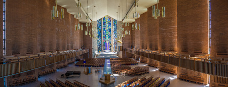The Chapel of the Resurrection on the capus of Valparaiso University, Indiana.  View to the East.