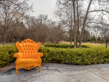 Orange chair to brighten the early spring tones