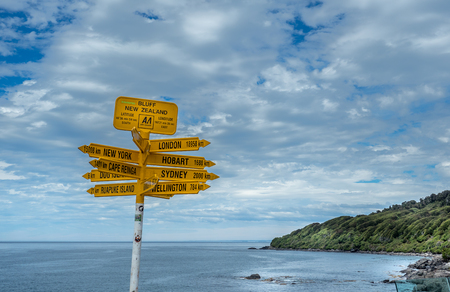 Bluff, New Zealand.  Southernmost point in New Zealand - next stop Antarctica.