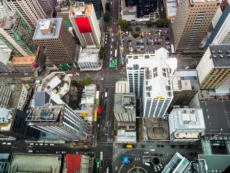 Aerial view of Auckland Central Business District, New Zealand