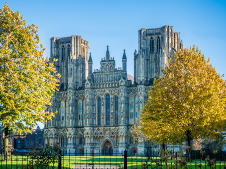 The Cathedral in Wells, England - the sammest city in the UK.