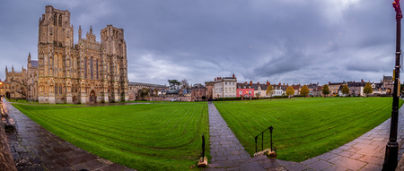 Cathedral Green in Wells, England - the smallest city in the Country.