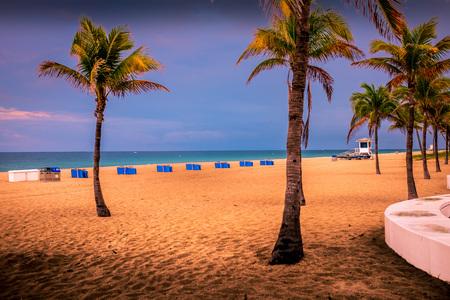 The Atlantic Ocean beachfront, Fort Lauderdale, Florida Stock fotó