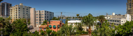 The skyline of the Fort Lauderdale Barrier Island looking towards the Intracoastal waterway. Stock fotó