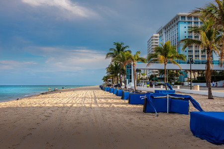 Early evening on Fort Lauderdale beach - about an hour before the next thunderstorm rolled through. Stock fotó