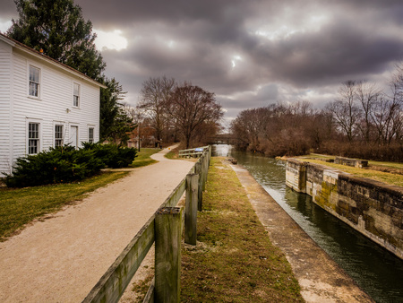 Aux Sable Lock - Illinois and Michigan Canal.