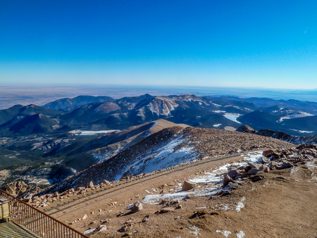 Across the Rocky Mountains from the top of Pikes Peak, Colerado Stock fotó