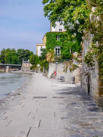 River Inn in full flood, Passau, Germany