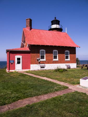 Eagle Harbor Lighthouse, Keweenaw Peninsula, Michigan USA Sajtókép