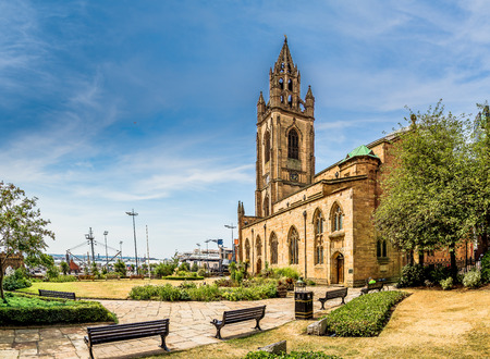 The Parish Church of Our Lady and St. Nicholas.  This historic church features a spire once used for shipping navigation, plus scenic gardens. Stock fotó