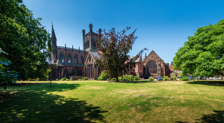 Famous Church of England cathedral in Chester, England dating back to 1093.