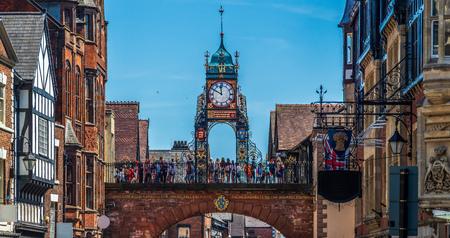 Turret clock built in Victorian times above a Georgian arch, listed as a historic landmark. Sajtókép